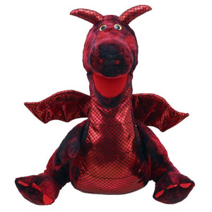 Enchanted  Dragon Hand Puppet Red