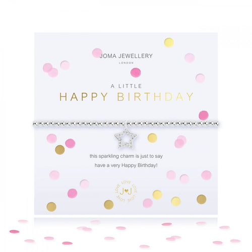 A Little Confetti Happy Birthday Silver Joma Bracelet
