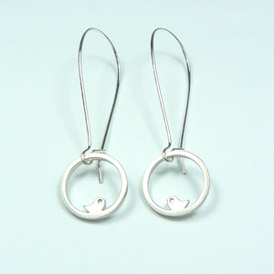 Love Bird Drop Earrings