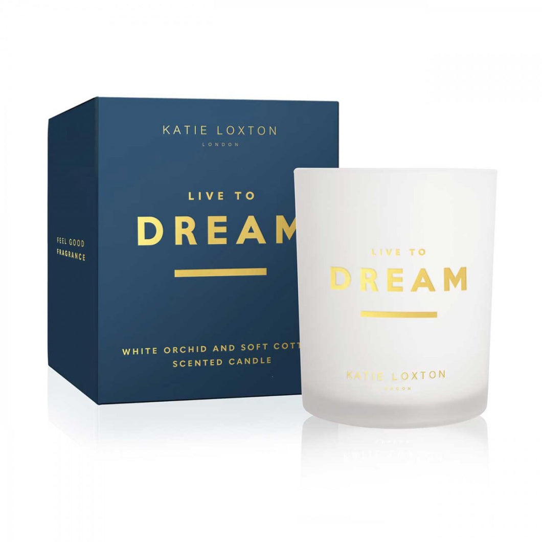 Katie Loxton Sentiment Candle Live To Dream