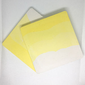 Jesmonite Yellow Coaster Duo