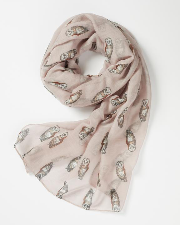 Fable Dusky Pink Owl Scarf