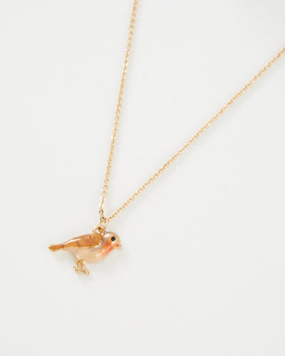 Enamel Robin Necklace