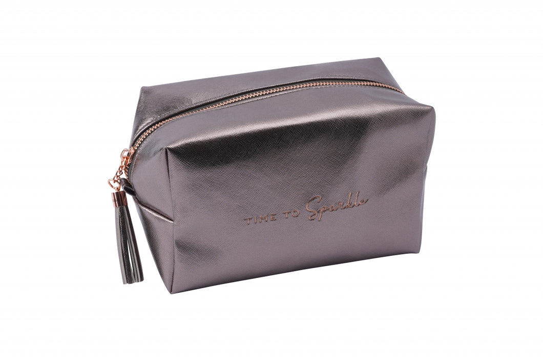 Willow & Rose Anthracite Grey Cosmetic Bag