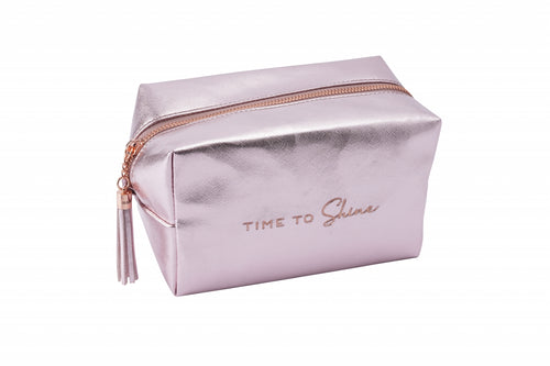 Willow & Rose Rose Metallic Cosmetic Bag