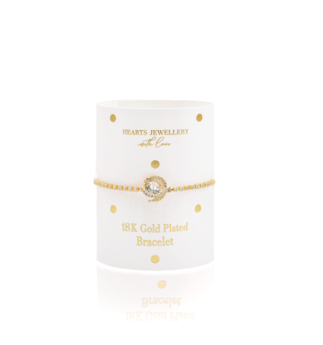 Gold Plated Diamante Bracelet
