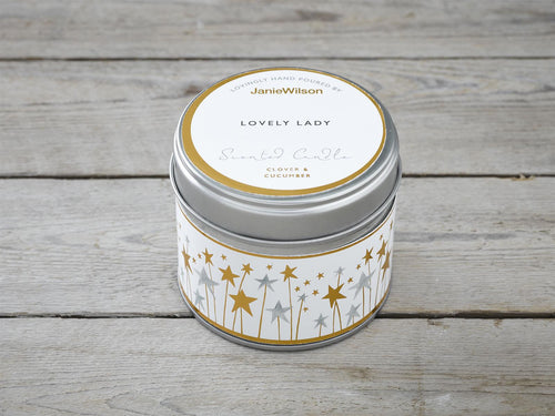 Lovely lady Candle Tin