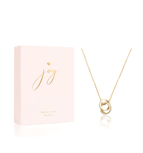 Concentric Circle Gold Plated Diamante Necklace
