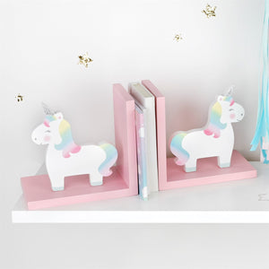 Rainbow Unicorn Bookends