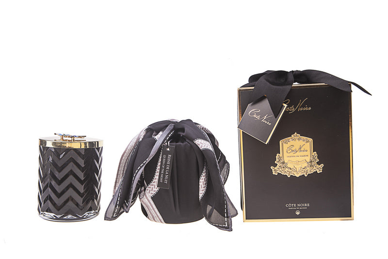 Limited Edition Luxury Herringbone Candle & Scarf