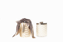 Load image into Gallery viewer, Limited Edition Luxury Herringbone Candle & Scarf Set
