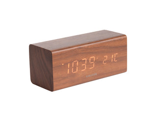 Karlsson Block Wood Veneer Table Clock