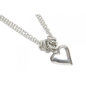 Luna London Double Chunky Chain Heart Necklace