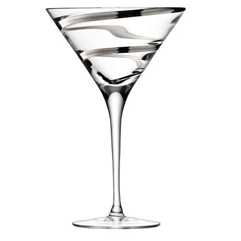 LSA Malika Platinum Cocktail Glass Pair