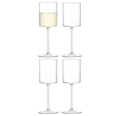 LSA Otis Set Of Four White Wine Glasses