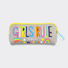 Load image into Gallery viewer, Girls Rule Neoprene Pencil Case