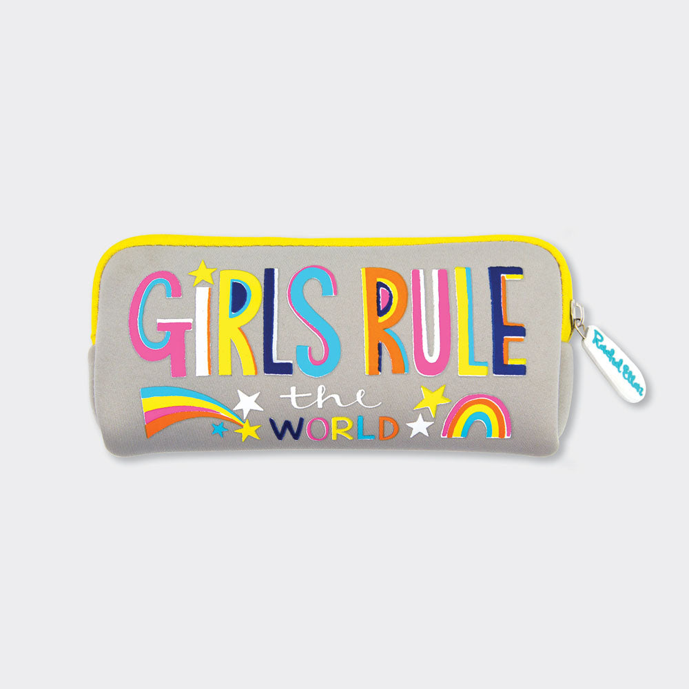 Girls Rule Neoprene Pencil Case