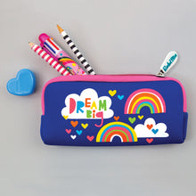 Load image into Gallery viewer, Dream Big Rainbow Neoprene Pencil Case