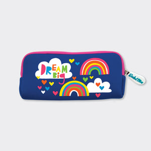 Dream Big Rainbow Neoprene Pencil Case