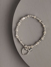 Load image into Gallery viewer, Delta Heart Silver Stretch Bracelet