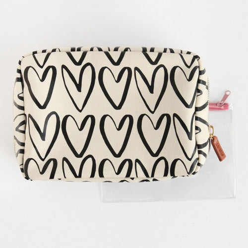 Hearts Travel Wash Bag
