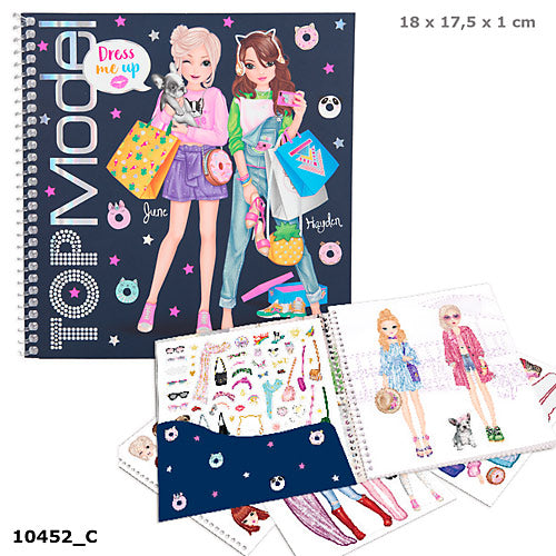 Top Model Dress Me Up Sticker Book