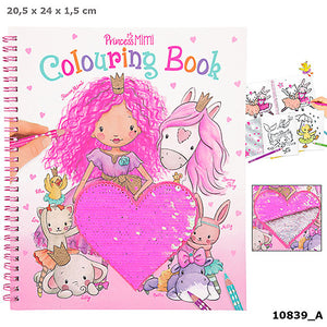 Princess Mimi Colouring Book With Sequin Heart