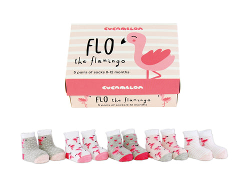 Flo The Flamingo Five Pairs Of Socks Boxed Set