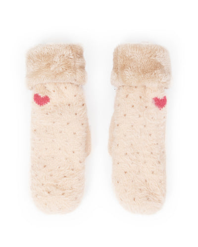 Polly Mittens In Cream