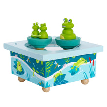 Load image into Gallery viewer, Mother Frog & Babies Music Box