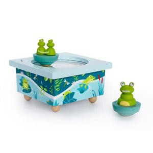 Mother Frog & Babies Music Box