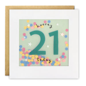 Shakies 21st Birthday Greetings Card