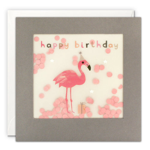 Shakies Happy Birthday Flamingo Greetings Card