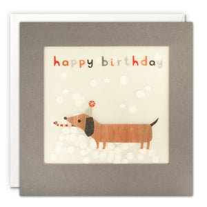 Shakies Happy Birthday Dachshund Greetings Card