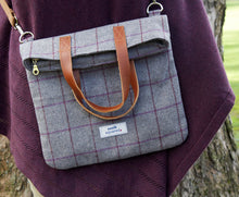 Load image into Gallery viewer, Harriet Grey Fog Heritage Tweed Bag