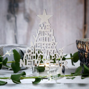Silver Christmas Tree Tealight Holder