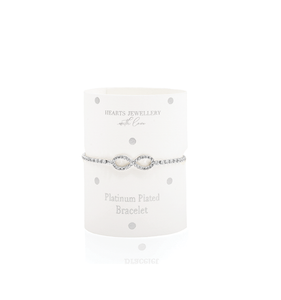 Silver Plated Eternity Symbol Diamante Bracelet
