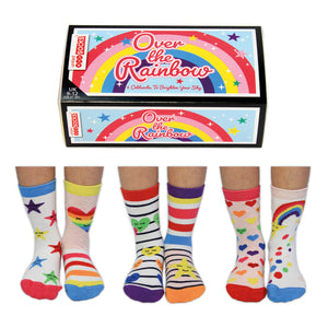 Over The Rainbow Set Of Six Odd-Socks