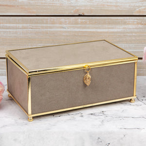 Sophia Medium Grey Jewellery Box