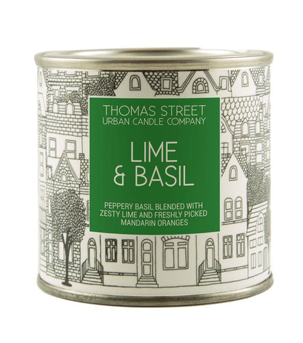 Thomas Street Lime & Basil Soy Candle Tin 190g