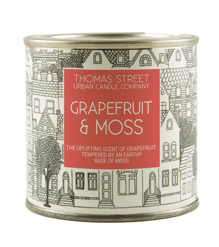 Thomas Street Grapefruit & Moss Soy Candle Tin 190g