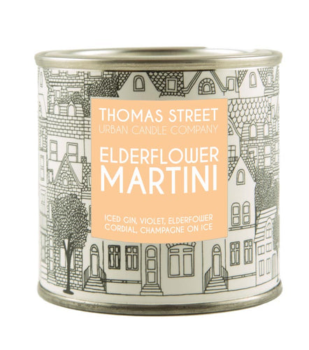 Thomas Street Elderflower Martini Soy Candle Tin 190g