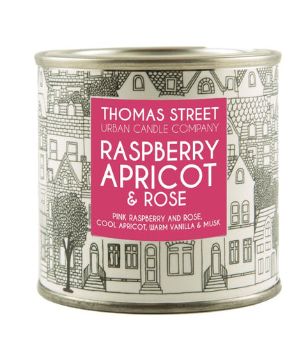 Thomas Street Raspberry Apricot & Rose Soy Candle Tin 180g