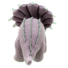 Load image into Gallery viewer, Wilberry Triceratops Knitted Dinosaur