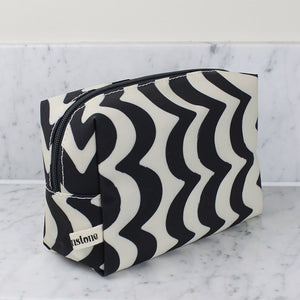 Brownstone London Large Cosmetics Bag Wave Design