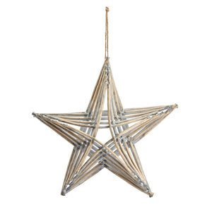 Large Driftwood Look Wooden Star