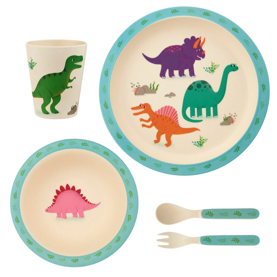 Roarsome Dinosaurs bamboo Tableware Set