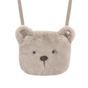 Teddy Bear Faux Fur Bag