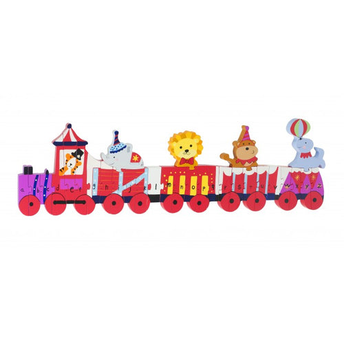Wooden Vintage Alphabet Circus Train