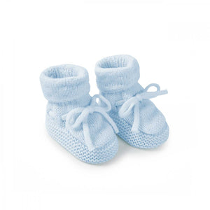 Knitted Baby Boots Blue